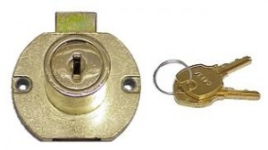 National 15 16in. Disc Tumbler Drawer Lock - Keyed Alike (Bright Brass)