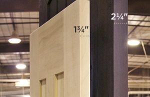 door thickness EPISSEUR DE PORTE 1 3.4 ET 2 1.4 214 134